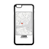 Ốp lưng dẻo iphone in hình Love City Map - Lisbon