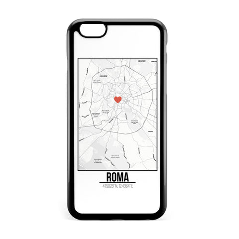 Ốp lưng dẻo iphone in hình Love City Map - Roma