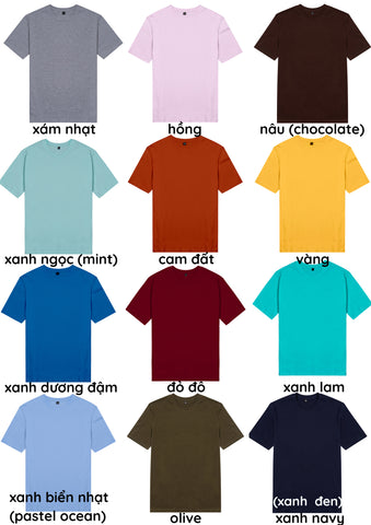Áo thun unisex cotton 100% in chữ why overthink when you can overdrink (nhiều màu)