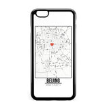 Ốp lưng dẻo iphone in hình Love City Map - Beijing
