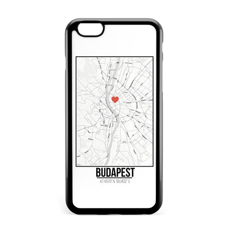 Ốp lưng dẻo iphone in hình Love City Map - Budapest