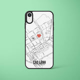 Ốp lưng  iphone in hình Love City Vietnam Map - Cao Lãnh (đủ model iphone)