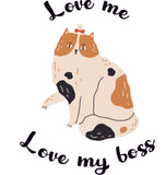 Áo thun unisex in hình Cat lover - Love Me, Love my boss 8