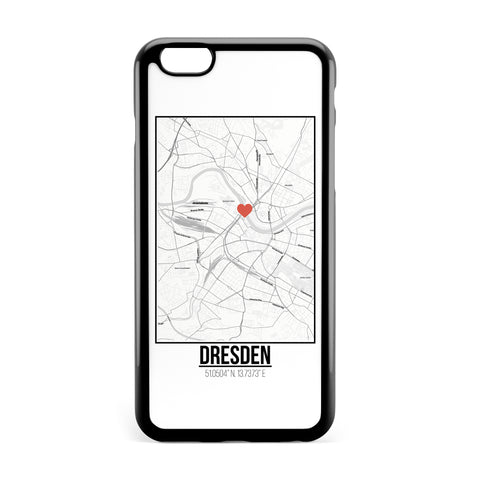 Ốp lưng dẻo iphone in hình Love City Map - Dresden