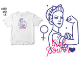 Áo thun unisex cotton 100% in hình Girl Power