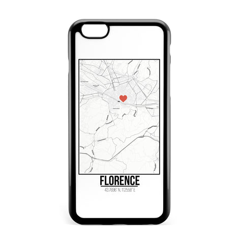 Ốp lưng dẻo iphone in hình Love City Map - Florence