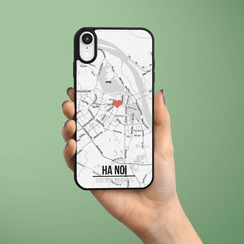 Ốp lưng  iphone in hình Love City Vietnam Map - Hanoi (đủ model iphone)