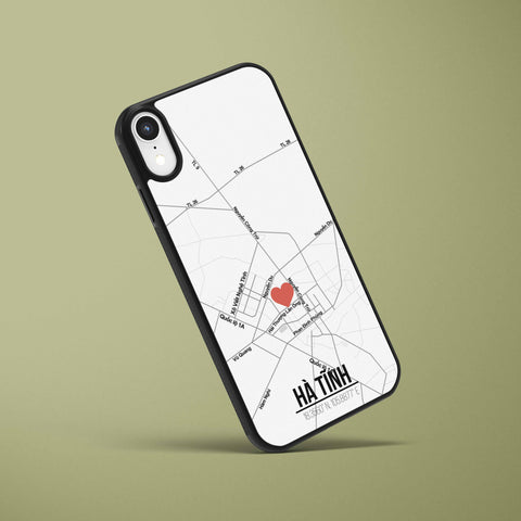 Ốp lưng  iphone in hình Love City Vietnam Map - Hà Tĩnh (đủ model iphone)