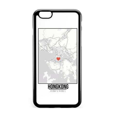 Ốp lưng dẻo iphone in hình Love City Map - Hongkong