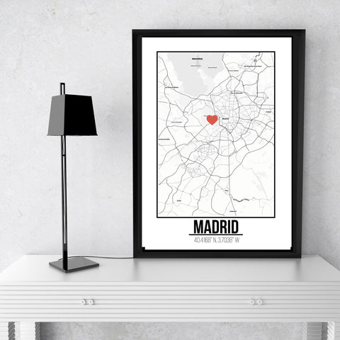 Madrid -  Love City Poster A3 Size