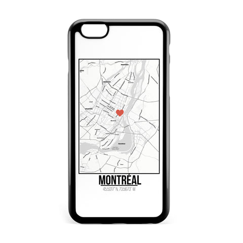 Ốp lưng dẻo iphone in hình Love City Map - Montreal