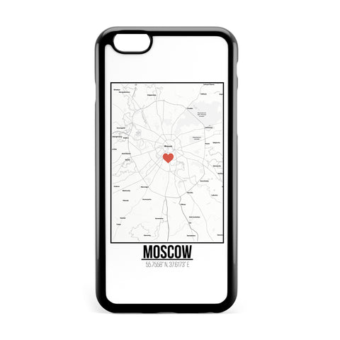 Ốp lưng dẻo iphone in hình Love City Map - Moscow