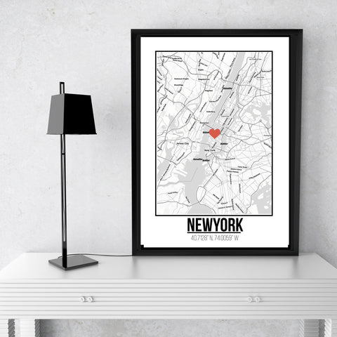 New York -  Love City Poster A3 Size