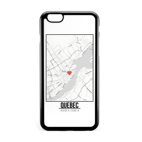 Ốp lưng dẻo iphone in hình Love City Map - Quebec