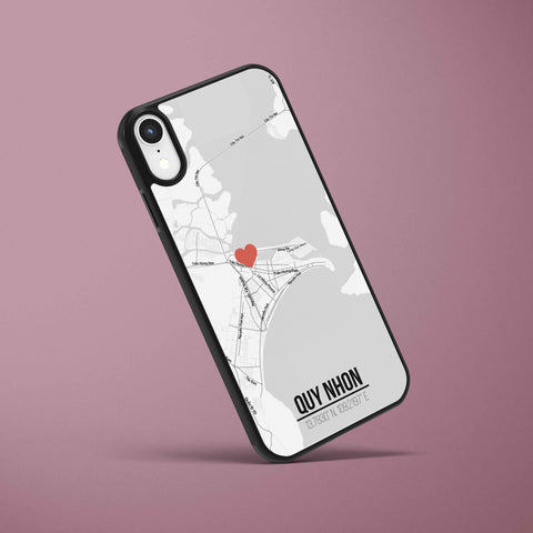 Ốp lưng  iphone in hình Love City Vietnam Map - Quy Nhon (đủ model iphone)