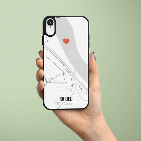 Ốp lưng  iphone in hình Love City Vietnam Map - Sadec (đủ model iphone)
