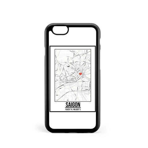 Ốp lưng dẻo iphone in hình Love City Map - Saigon