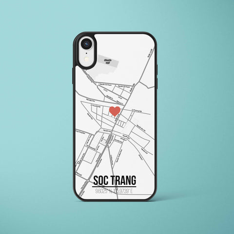Ốp lưng  iphone in hình Love City Vietnam Map - Sóc Trăng (đủ model iphone)