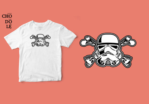 ÁO THUN TRẺ EM COTTON 100% IN HÌNH Super Heroes series - Storm Trooper Cross Bones