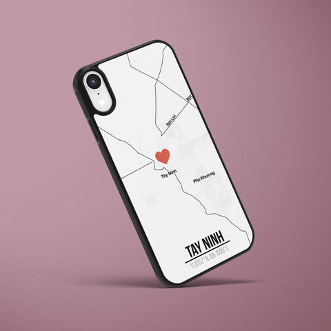 Ốp lưng  iphone in hình Love City Vietnam Map - Tây Ninh (đủ model iphone)