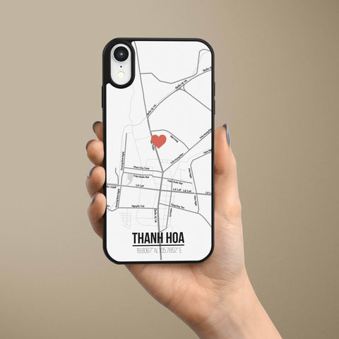 Ốp lưng  iphone in hình Love City Vietnam Map - Thanh Hóa (đủ model iphone)