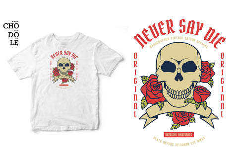 Áo thun unisex cotton 100% in hình Death before Dishonor