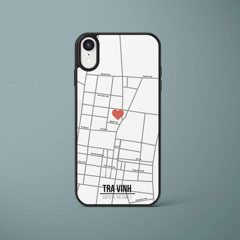 Ốp lưng  iphone in hình Love City Vietnam Map - Trà Vinh (đủ model iphone)