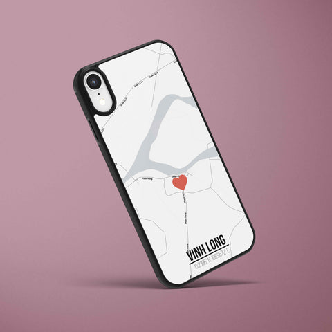 Ốp lưng  iphone in hình Love City Vietnam Map - Vĩnh Long (đủ model iphone)