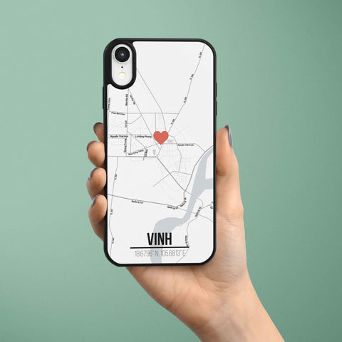 Ốp lưng  iphone in hình Love City Vietnam Map - Vinh, Nghệ An (đủ model iphone)