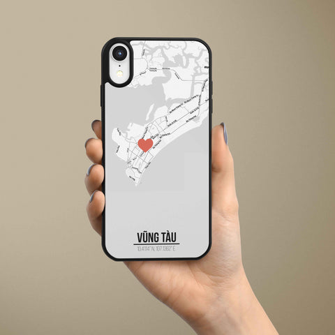 Ốp lưng  iphone in hình Love City Vietnam Map - Vũng Tàu (đủ model iphone)