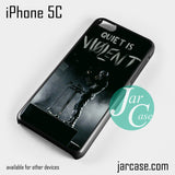 21 Pilots Quiet Is Violent Phone case for iPhone 5C and other iPhone devices