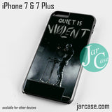 21 Pilots Quiet Is Violent Phone case for iPhone 7 and 7 Plus - JARCASE