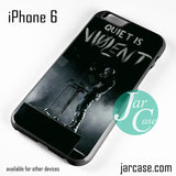 21 Pilots Quiet Is Violent Phone case for iPhone 6 and other iPhone devices - JARCASE