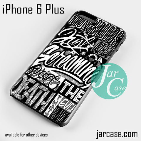 21 Pilots Songs  Phone case for iPhone 6 Plus and other iPhone devices