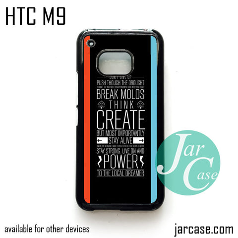 21 pilots band quotes  Phone Case for HTC One M9 case and other HTC Devices