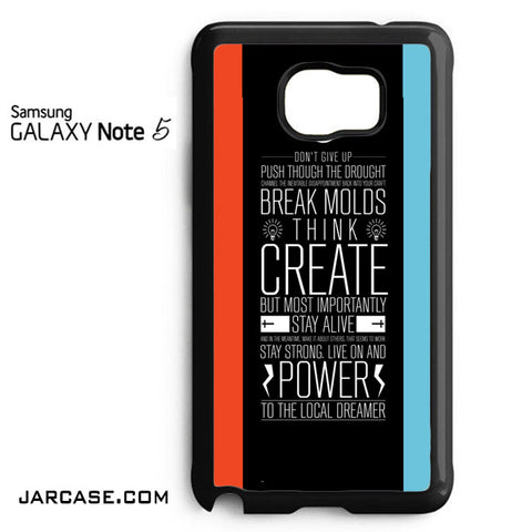 21 Pilots Band Quotes Phone case for samsung galaxy note 5 and another devices - JARCASE
