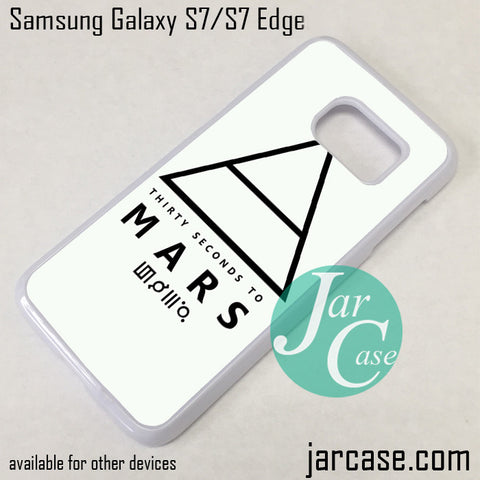 30 Seconds To Mars Logo 1 Phone Case for Samsung Galaxy S7 & S7 Edge - JARCASE