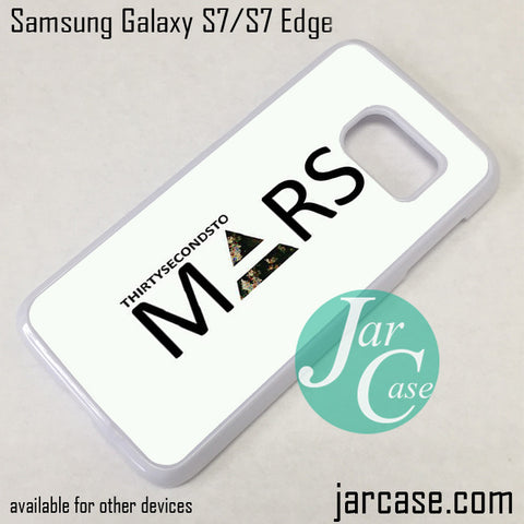 30 Seconds To Mars Logo 2 Phone Case for Samsung Galaxy S7 & S7 Edge - JARCASE