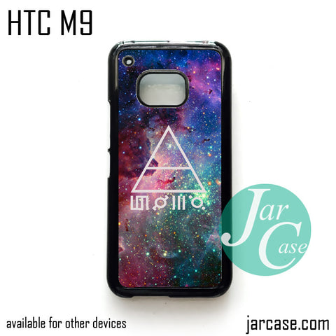 30 seconds to mars galaxy  Phone Case for HTC One M9 case and other HTC Devices