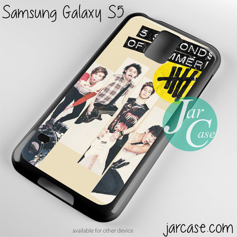 5 seconds of summer music band Phone case for samsung galaxy S3/S4/S5