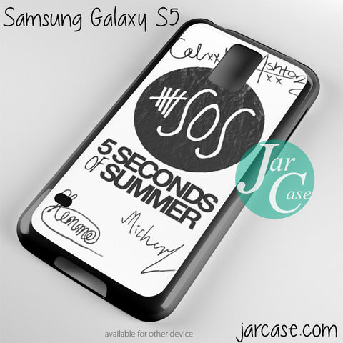 5 seconds of summer signature Phone case for samsung galaxy S3/S4/S5