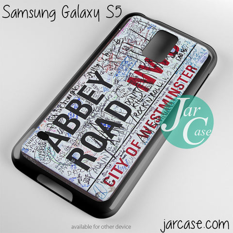 abbey road disney street sign Phone case for samsung galaxy S3/S4/S5