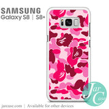 Bape Pink Camo Phone Case for Samsung Galaxy S8 & S8 Plus - JARCASE