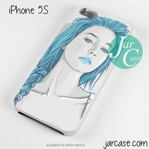 Beautiful Blue HairGirly Phone case for iPhone 4/4s/5/5c/5s/6/6 plus