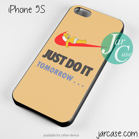 just do it tomorrow simpson sleep orange Phone case for iPhone 4/4s/5/5c/5s/6/6 plus