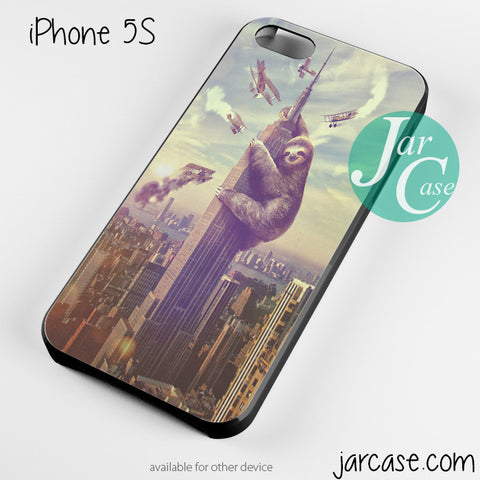 king kong sloth climbing Phone case for iPhone 4/4s/5/5c/5s/6/6 plus