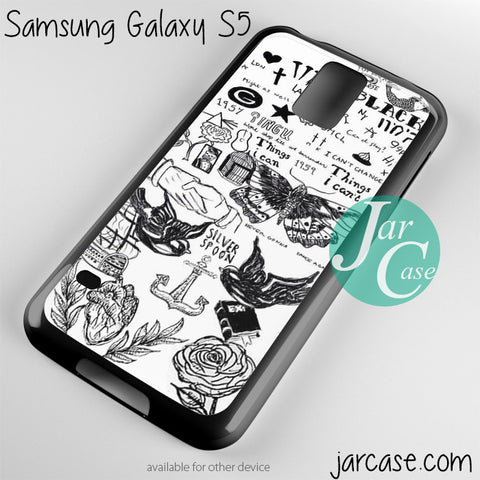 one direction black tatoo Phone case for samsung galaxy S3/S4/S5