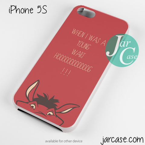 When I Was Young Disney Quote Phone case for iPhone 4/4s/5/5c/5s/6/6 plus