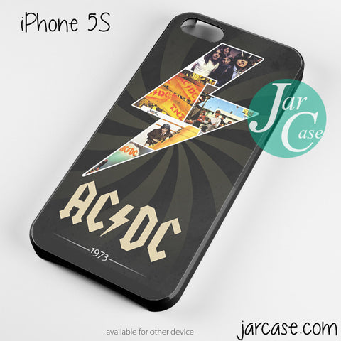 ac dc est 1973 Phone case for iPhone 4/4s/5/5c/5s/6/6 plus