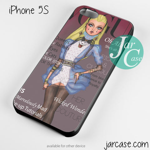 alice disney vogue magazine Phone case for iPhone 4/4s/5/5c/5s/6/6 plus